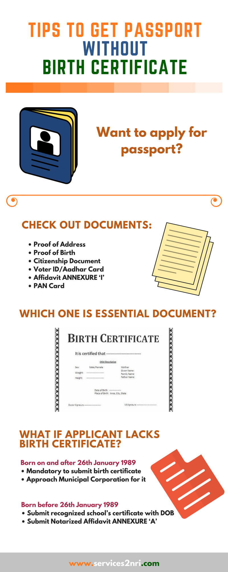 How nris can get passport without birth certificate tips to get passport without birth certificate ccuart Gallery