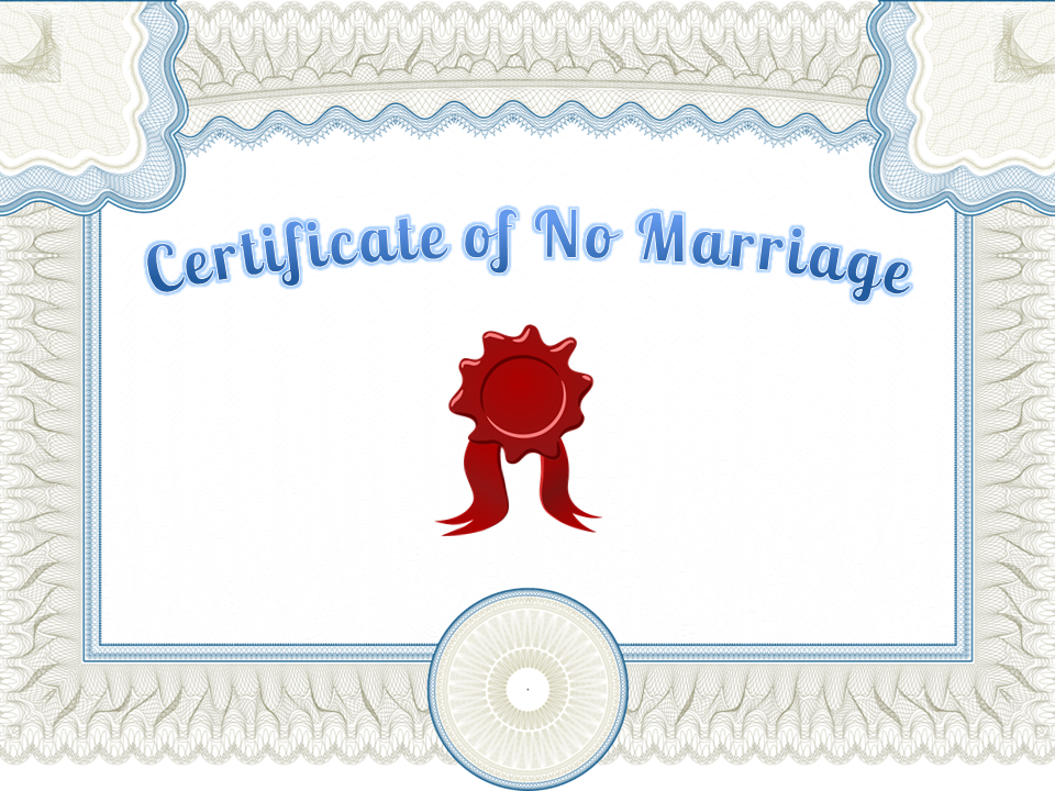 what is certificate of no marriage