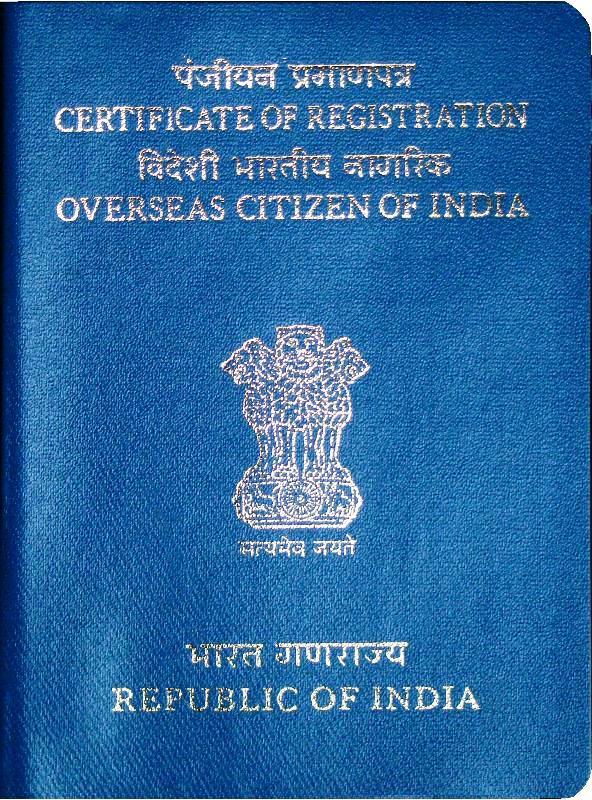 apply online for OCI card