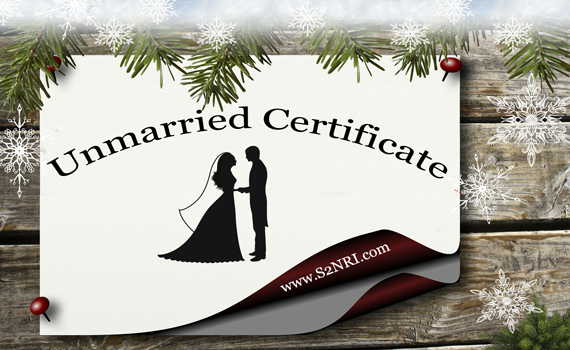 Procedure to get unmarried certificate in India