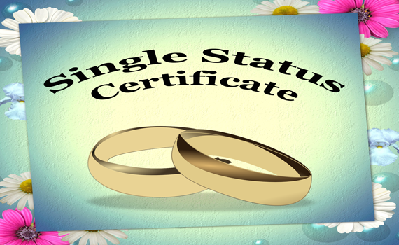 apply for single status certificate