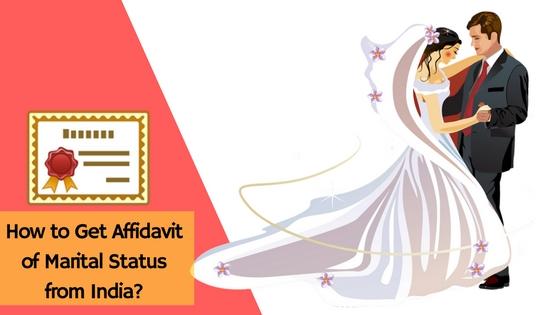 Affidavit of Marital Status